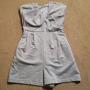 Silence & Noise Heather Grey Romper Shorts